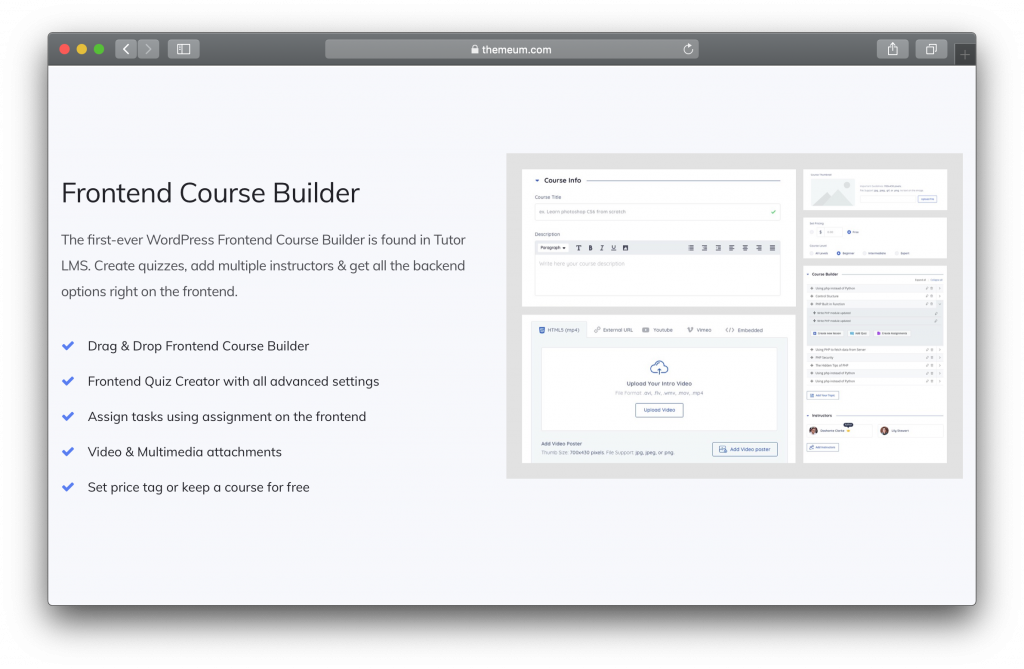 Tutor LMS Features