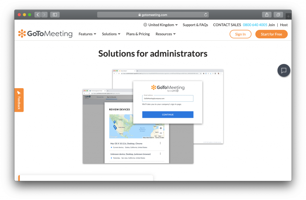 GoToMeeting Homepage