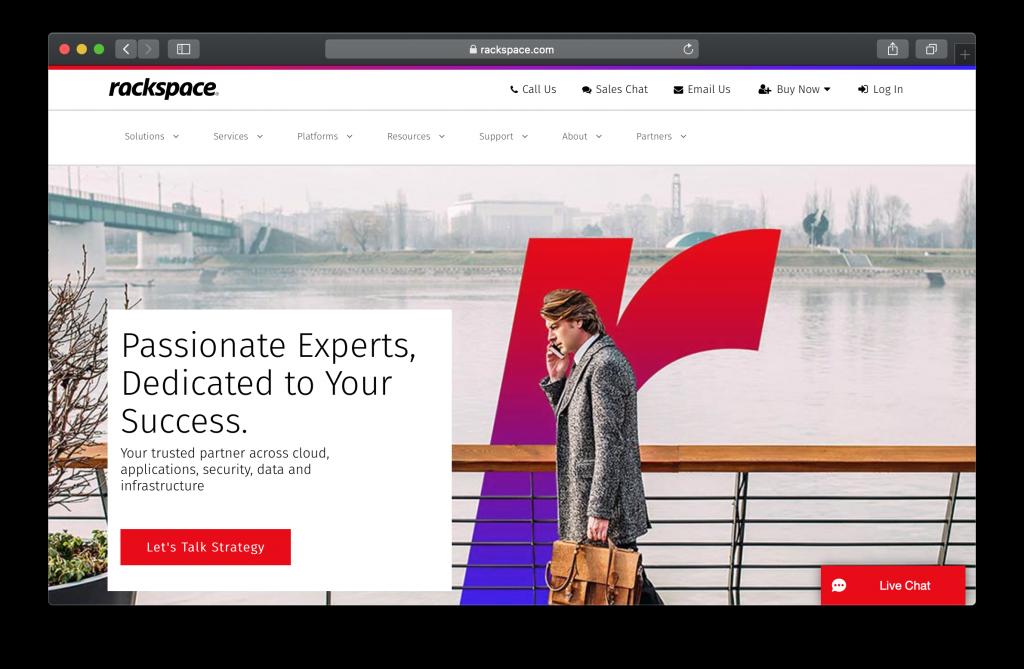 Rackspace Homepage