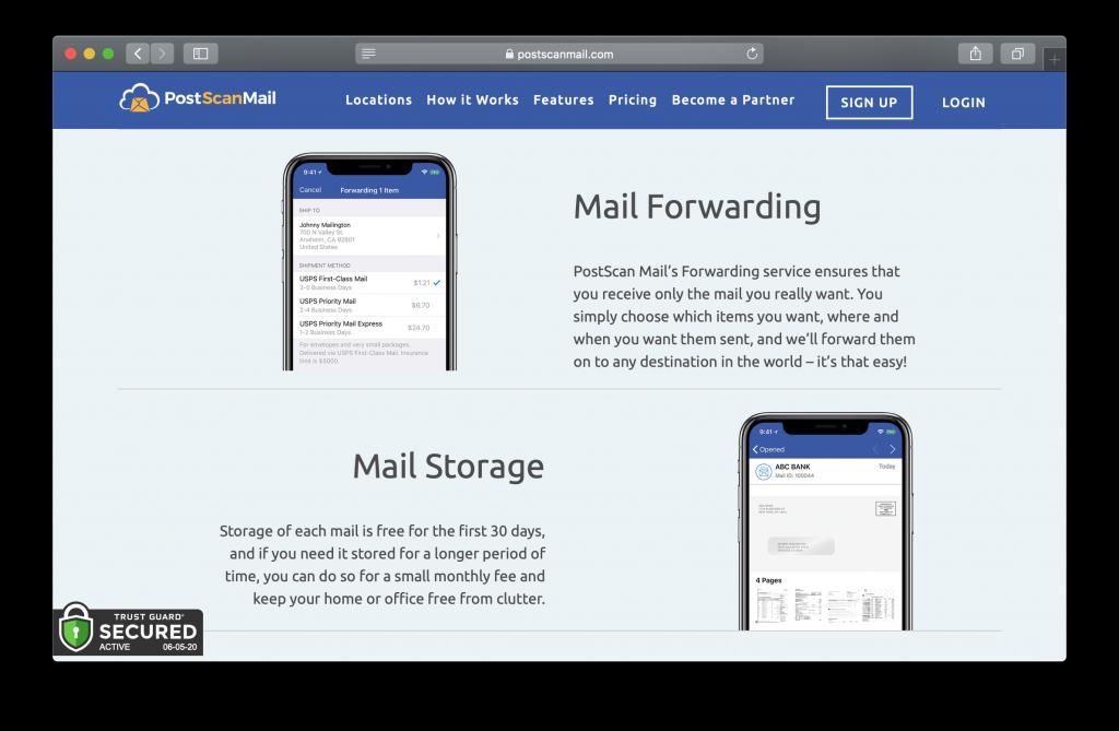 PostScan Mail Homepage