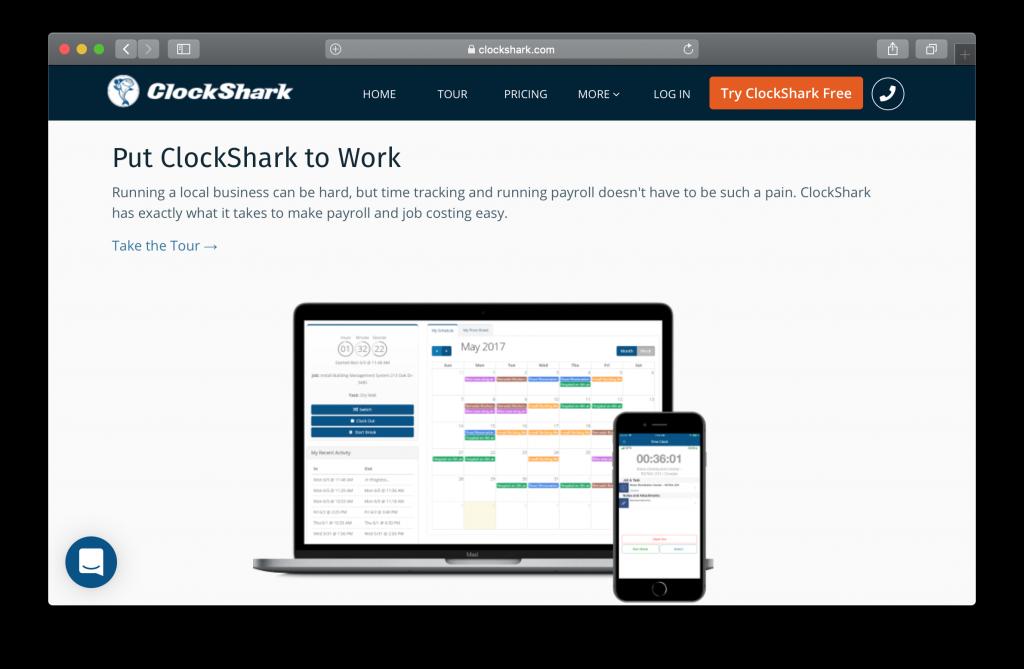 Clockshark Homepage