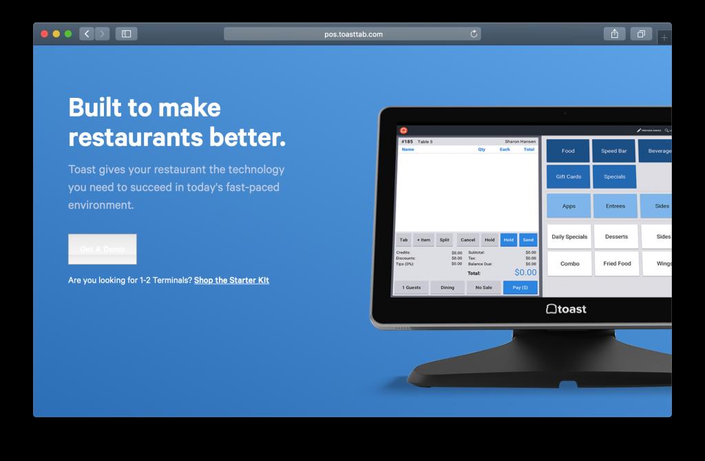 Toast Homepage