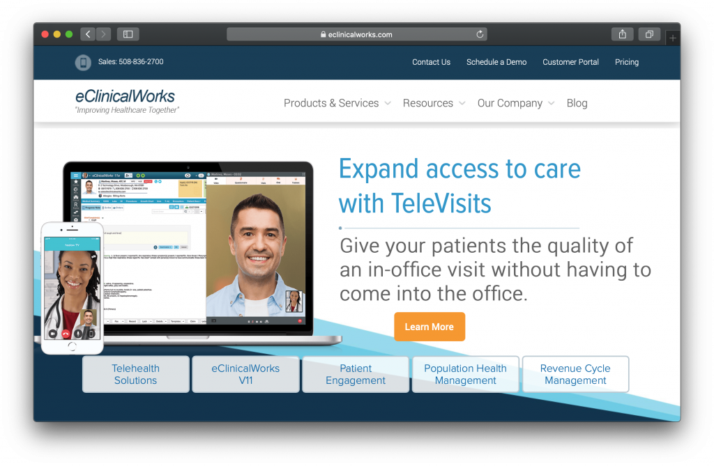 eClinicalWorks Homepage