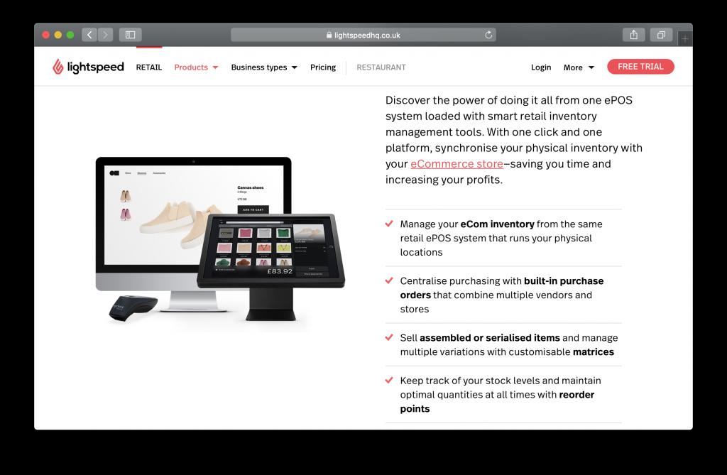 Lightspeed Homepage