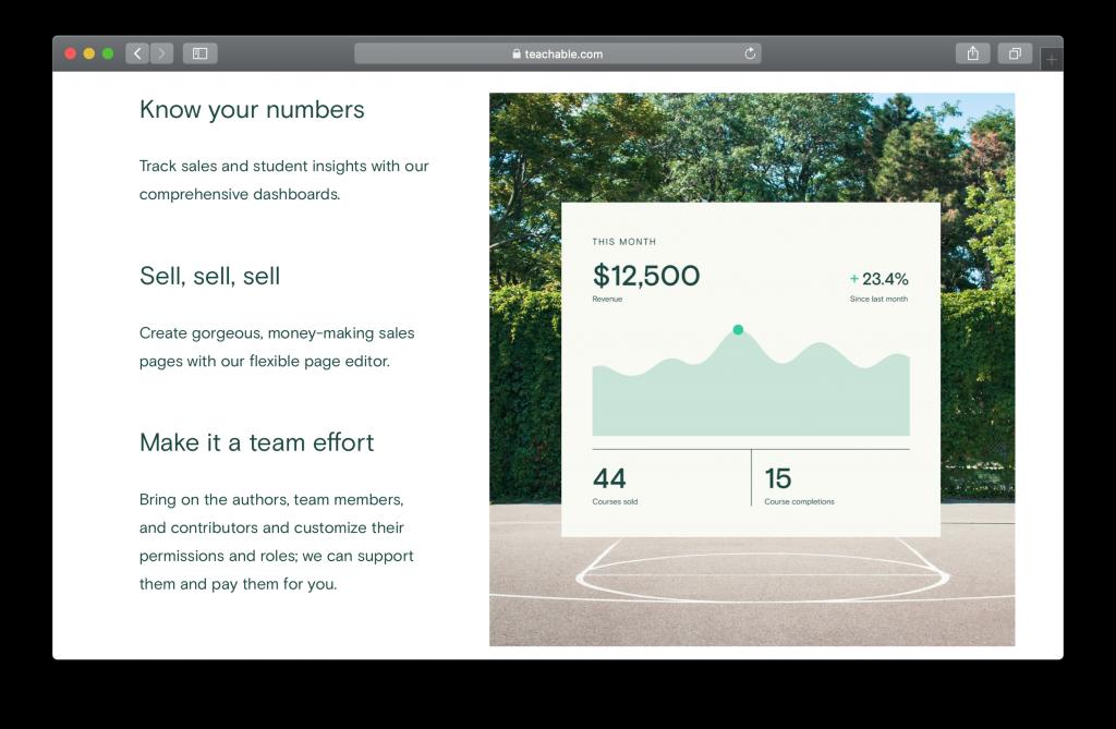 Teachable Homepage