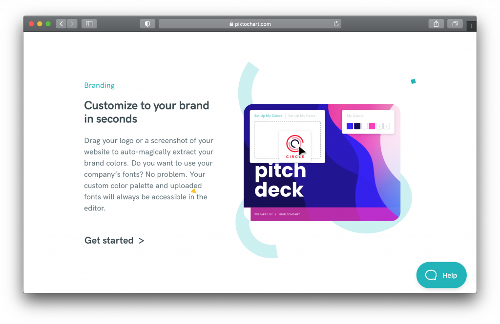 Piktochart Branding Editor