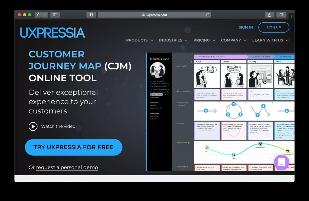 UXPressia Dashboard